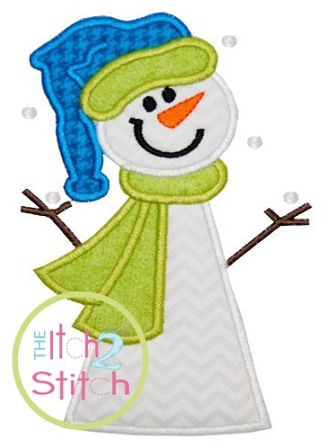 Snowman 3 Applique