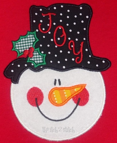 Snowman Face Applique