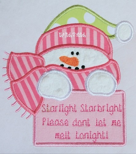 Snowman Wish Applique