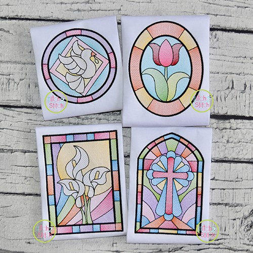 Stained Glass Sketch Design Set