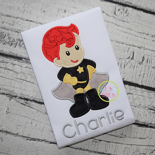 Superhero Standing Boy Applique