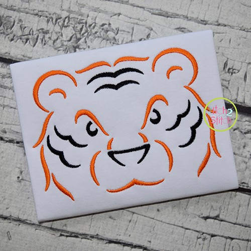 Tiger Mascot Embroidery