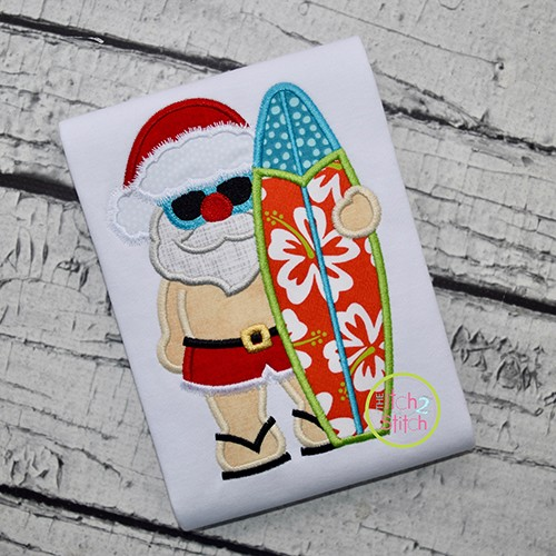Tropical Santa Applique