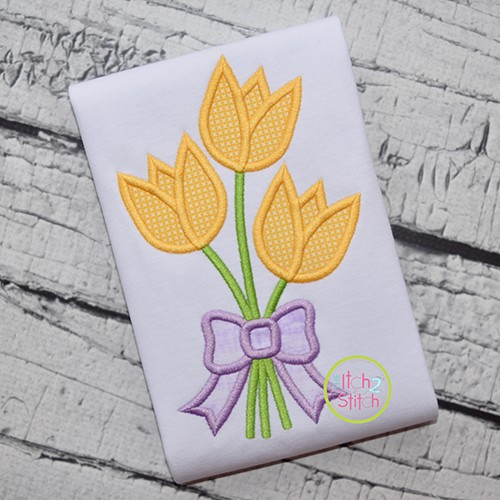 Tulip Bouquet Applique
