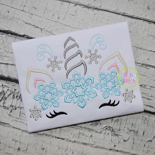 Unicorn Horn Snowflakes Embroidery