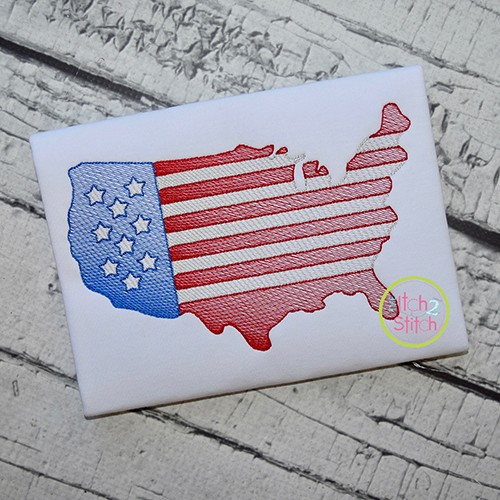 United States Sketch Embroidery