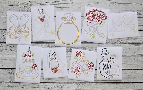 Wedding Embroidery Set