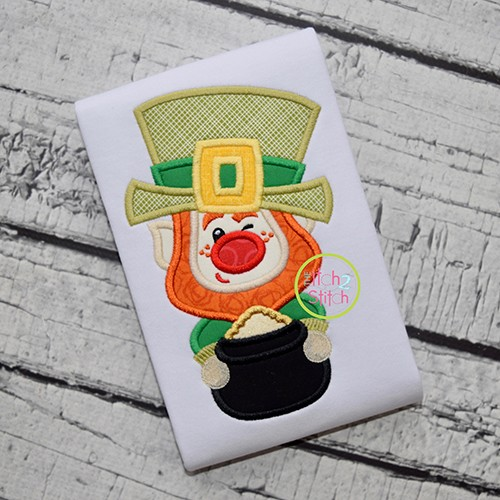 Winking Leprechaun Applique