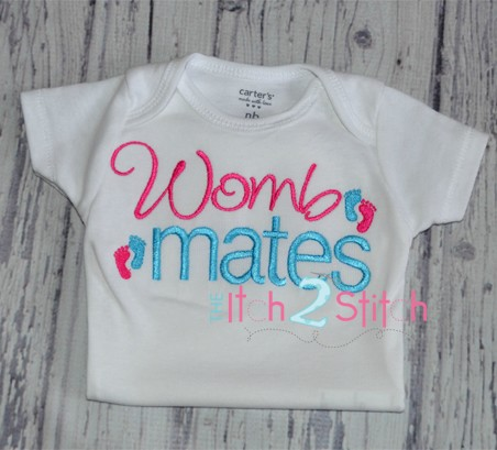 Womb Mates Embroidery Design